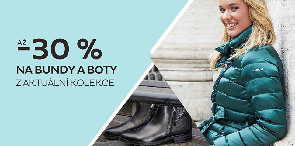Až 30 % na bundy, kabáty a boty