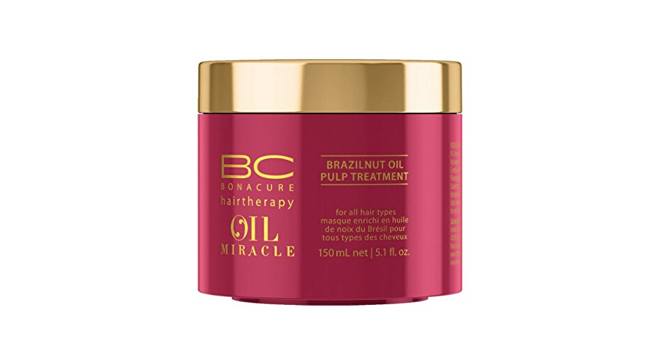 Schwarzkopf Professional Maska pre výživu a hydratáciu vlasov BC Bonacure Oil Miracle (Brazilnut Oil Pulp Treatment For All Hair Types) 500 ml
