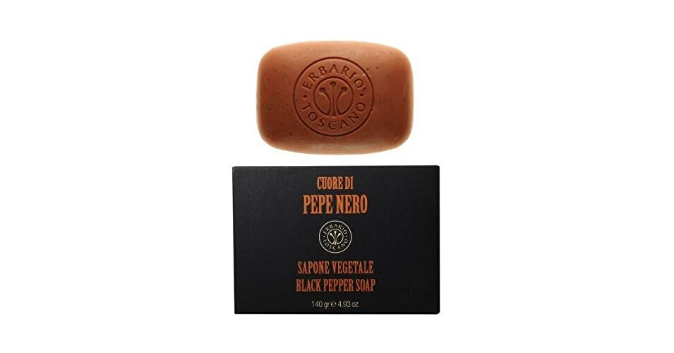 Erbario Toscano Prírodné tuhé mydlo pre mužov Čierne korenie (Black Pepper Soap) 140 g