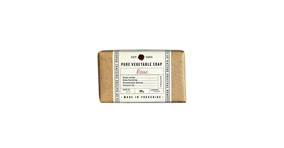 Fikkerts Hydratačné rastlinné mydlo Ruža ( Pure Vegetable Soap) 85 g