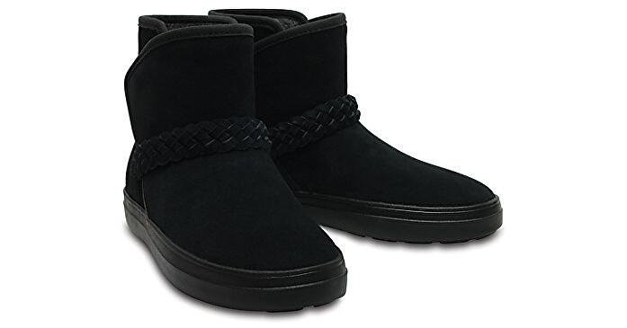 cb6c420d0fc Crocs Dámské zimní boty LodgePoint Suede Bootie W Black 204798-001 36-37