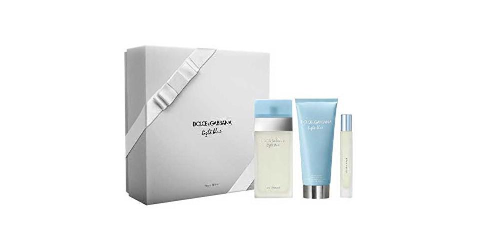Dolce & Gabbana Light Blue - EDT 100 ml + telový krém 100 ml + toaletná voda s rozprašovačom 7,4 ml
