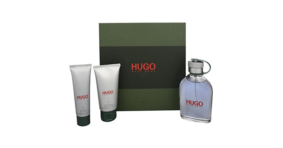 Hugo Boss Hugo - toaletní voda s rozprašovačem 125 ml + balzám po holení 75 ml + sprchový gel 50 ml - SLEVA - poškozený obal