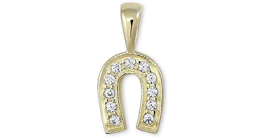 Brilio Zlatý prívesok podkova s kryštálmi 249 001 00107 - 0,75 g