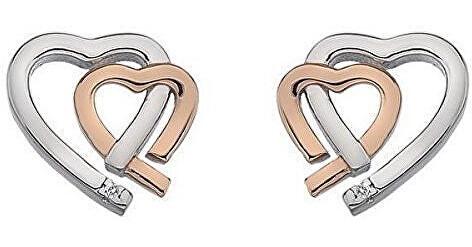 Hot Diamonds Dámske bicolor náušnice Hot Diamonds Love DE532