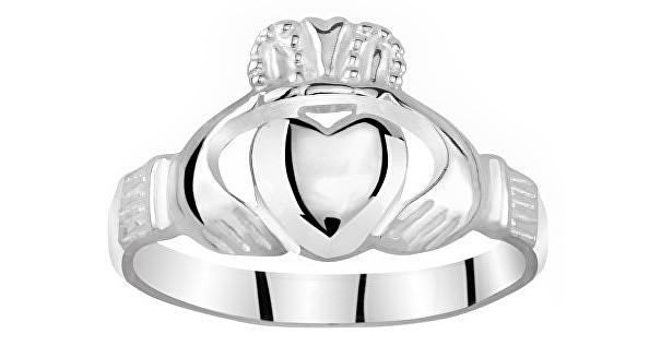 Silvego Dámsky Celostříbrný prsteň Claddagh ZTR96391 56 mm