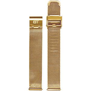 Bentime Kovový mesh s easy clickem - zlatý 16 mm