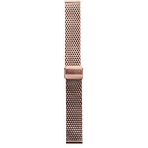 Lars Larsen Řemínek milánský tah/růžově zlatý 18 mm MR18