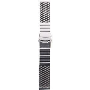Lars Larsen Řemínek milánský tah/stříbrný 22 mm MS22