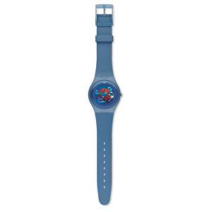 Swatch Blue Grey Lacquered SUON102 - II. jakost