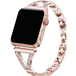 Wotchi Ocelový tah s kamínky pro Apple Watch - 38/40 mm