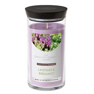 Country Candle Vonná svíčka ve skleněné dóze Ambra a levandule (Amber & Lavender) 630 g