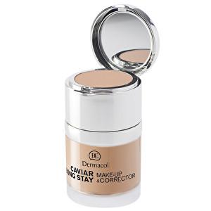 Fotografie Dermacol Dlouhotrvající make-up s výtažky z kaviáru a zdokonalovací korektor (Caviar Long Stay Make-Up & Corrector) 30 ml 1 Pale