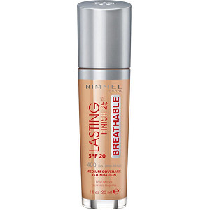 Rimmel Dlouhotrvající tekutý make-up Lasting Finish Breathable SPF 20 (Foundation) 30 ml 010 Light Porcelain