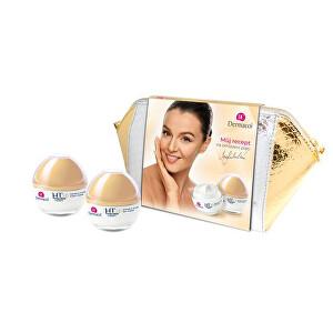 Dermacol 3D Hyaluron Therapy pro ženy remodelační denní pleťová péče 50 ml + remodelační noční pleťová péče 50 ml + kosmetická taštička dárková sada