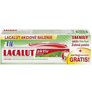 Lacalut Zubní pasta Lacalut Aktiv Herbal 75 ml + zubní kartáček Duo Clean
