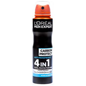 L´Oréal Paris Spray antiperspirant pentru bărbați Carbon Protect 4v1 150 ml