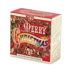 Michel Design Works Luxusní mýdlo v elegantní krabičce Veselé Vánoce (Shea Butter Soap) 100 g