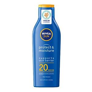 Nivea Hydratační mléko na opalování SPF 20 Sun (Protect & Moisture Lotion) 200 ml