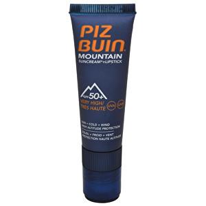 "Piz Buin Sluneční krém SPF 50+ a ochranný balzám na rty SPF 30 2 v 1 (Mountain Combi ""2 in 1"" Sun Cream SPF 50+ a Lipstick) 20 ml + 2,3 ml"
