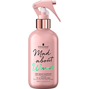 Schwarzkopf Professional Bezoplachový kondicionér v spreji pre vlnité vlasy Mad About Waves ( Light Splash Conditioner) 250 ml