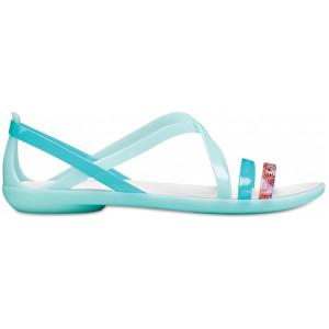ade5d3c06194 Crocs Dámske sandále Isabella Cut Grph Strappy Sndl New Mint Oyster  205150-35I 38