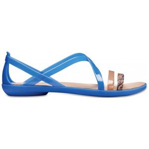 5608dcc02dc0 Crocs Dámske sandále Isabella Grph Strappy Sandal Blue Jean Gold 205084-4HT  38-