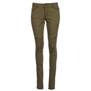 Cars Jeans Dámské zelené kalhoty motorkářské Morgan Army 9883119.33 27