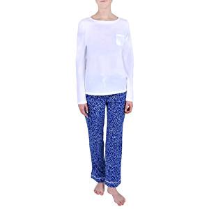 Calvin Klein Dámske pyžamo Pj In A Box White w/layered starburst print QS6141E-YL8 M