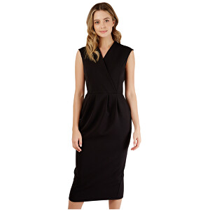Closet London SLEVA  Dámské šaty Closet Princess Seam Wrap Dress Black L