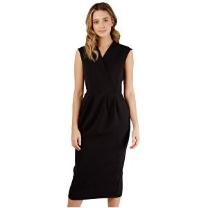 Closet London Dámske šaty Closet Princess Seam Wrap Dress Black S