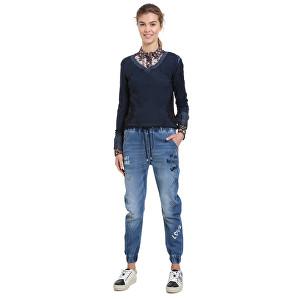 Desigual Blugi pentru femei Denim Jogger Letterinkg Denim Elec 18WWDD30 5061 34