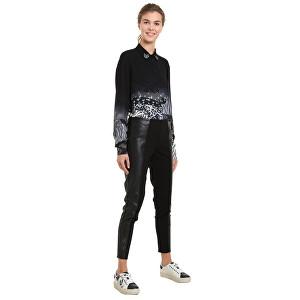 Desigual Pantaloni pentru femei Pant Londres Negro 18WWPW10 S