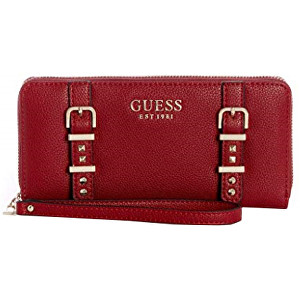Guess Dámská peněženka Eileen Large Zip-Around Wallet Crimson