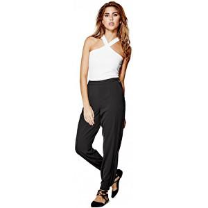 Guess Dámské černé kalhoty Lisette Crepe Joggers M