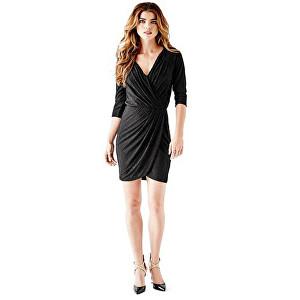 Guess Rochie pentru doamneThree - Quarter Sleeve Metallic Wrap Dress L