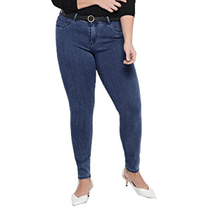 ONLY CARMAKOMA Dámské džíny CARTHUNDER PUSH UP 15174945 Medium Blue Denim 5XL