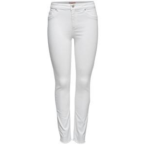 ONLY Dámské džíny Blush Mid Sk Ank Raw Rea0730 White XS/30