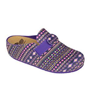 Scholl Dámské pantofle Lareth Bioprint Purple/Multi F272821280 36