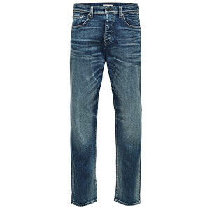 SELECTED HOMME Pánske džínsy Tapered-Toby 6146 M.Blu St Jns W Noos Medium Blue Denim 30-32