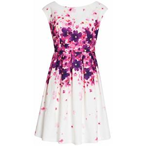 Smashed Lemon Dámske krátke šaty White 18201/01 L