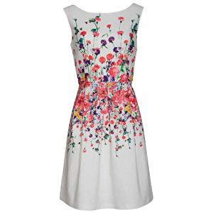 Smashed Lemon Dámske krátke šaty White 18347/01 L