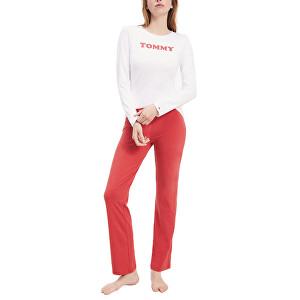 Tommy Hilfiger Dámske pyžamo Set Ls UW0UW01929-0WV White / Cardinal M