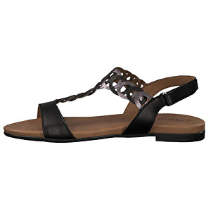 Tamaris Dámske sandále 1-1-28127-22 -094 Black/Pewter 39