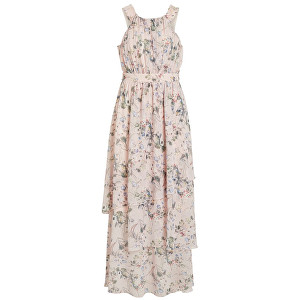 Vila Dámske šaty Nola S-L Maxi Layer Dress-Za Rose Smoke 34