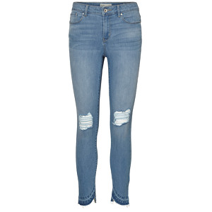 Vero Moda Dámske džínsy Seven Mr S Uneven Folddown Ank J Cr030 -30 Light Blue Denim 25