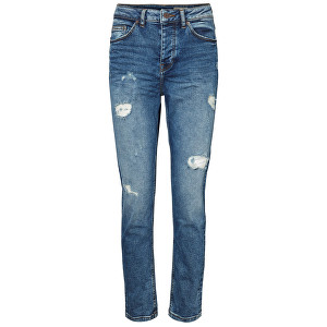 Vero Moda Dámske džínsy Stephanie Hr Girlfriend Jea Da303 -30 Medium Blue Denim 26