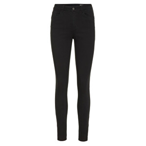 Vero Moda Jeans VMSEVEN SHAPE MR S ANK ZIP JEANS NOOS Black M/30