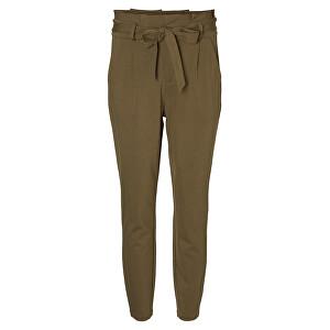 Vero Moda Dámske nohavice VMEVA HR LOOSE PAPERBAG PANT NOOS KI Ivy Green S/30