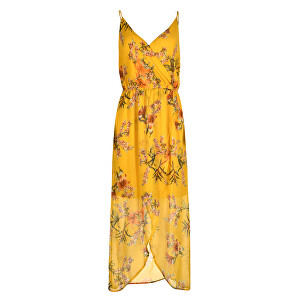 Vero Moda Dámské šaty Wonda Mandana Maxi Dress Exp Lemon Curry M